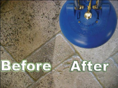 how to clean natural stone tile after grouting