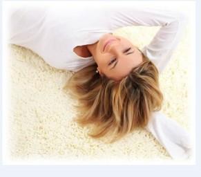 fresh clean carpet.
