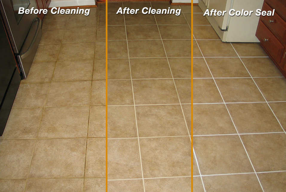 Tile & Grout Color Seal | X-Treme Carpet & Upholstery Floor Cleaning Specialist